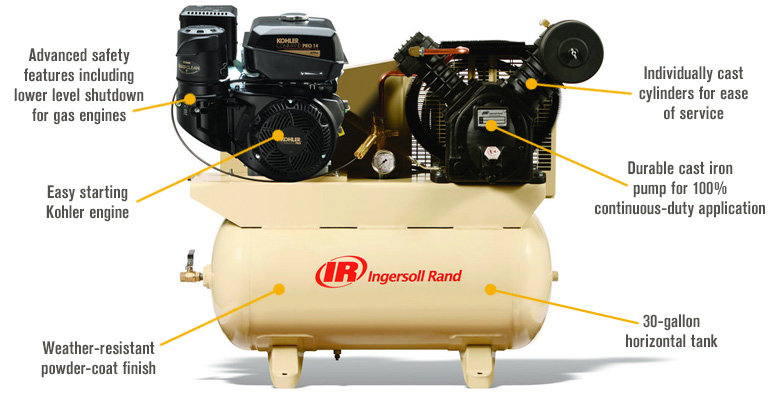 Ingersoll Rand Portable Gas Air Compressor Product Features