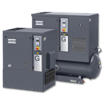 Atlas Copco G 7, 11 & 15 Series- Oil Injected Rotary Screw Compressors 10-20Hp