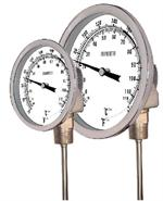 Temperature Gauges, Back and Lower Mount