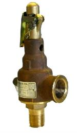 Kunkle Side and Top Venting ASME Bronze Safety Valves