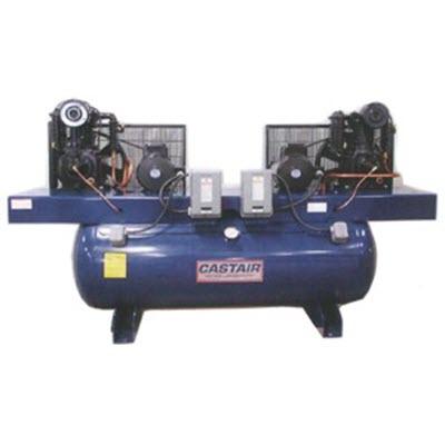 castair 10hp 2x5 duplex air compressor 1 phase rpm 767. Black Bedroom Furniture Sets. Home Design Ideas