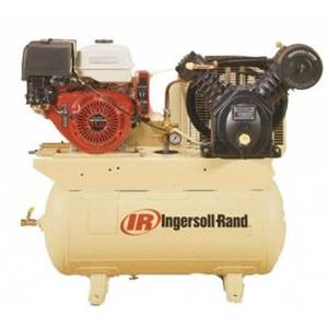 Ingersoll Rand Gas Portable, 2 Stage, 13HP, 25acfm 175psig, 30 Gal Horiz Tank