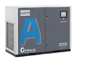Atlas Copco AQ Series, 226.0 CFM@175psi, Water Injected (Oil Free), Rotary Air Compressor, 75 HP, AQ55-AFF, 8153323400