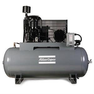 Atlas Copco 10HP AR-10 Air Compressor 120Gal Horiz 208V3- 9710502117