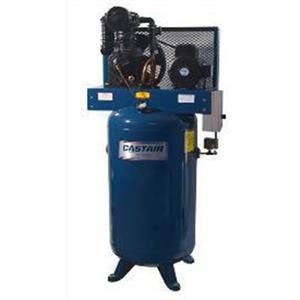 Castair 7.5HP Air Compressor 2 stage/1 Phase 585 RPM 120Gal Vert