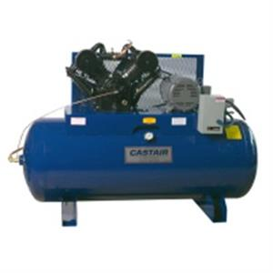 Castair 7.5HP Air Compressor 2 Stage/1 Phase 585 RPM 80Gal Horiz