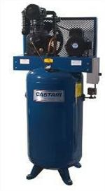 Castair 10 HP Air Compressor, 33.0 CFM@175 PSI, Pump RPM 737, 80 Gal Vert Tank