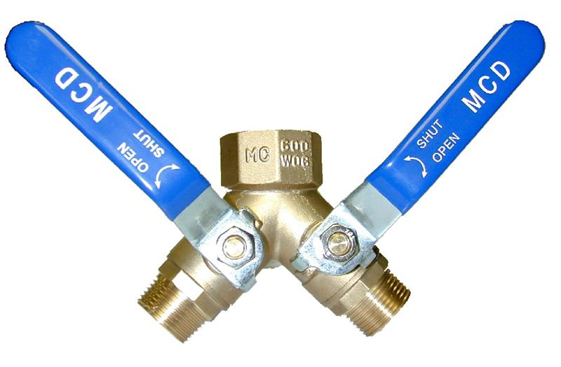 3 4 Quot Npt F Inlet X M Outlet Three Way Ball Valve