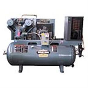 Saylor-Beall 5 HP Compressed Air System w/Refrigerated Dryer 35° Dewpoint, 18.5 CFM@175psi, 707 Pump, 455 RPM, 80 Gallon Horizontal Tank
