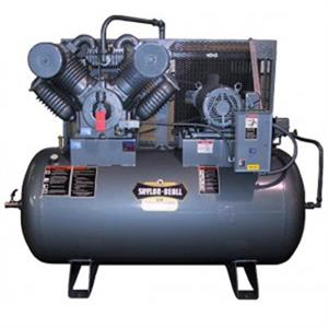 Saylor-Beall 10HP Splash Lube 2 Stage Air Compressor 707 Pump 200Gal Horiz