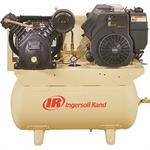 Ingersoll Rand 14HP Portable Gas Driven 2 Stage 30Gal Horiz